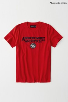 Abercrombie & Fitch Red Short Sleeve T-Shirt