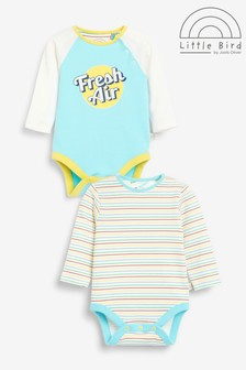 Little Bird Long Sleeve Bodysuits 2 Pack