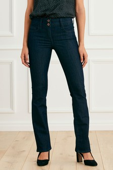 Jean boot cut slim réhaussant