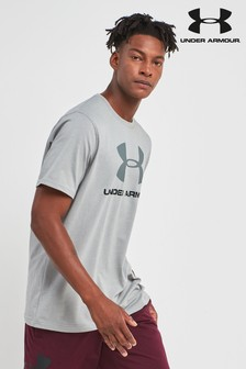 Under Armour Gym Grey Heather Sportstyle Logo tshirt