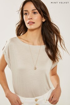 Mint Velvet Neutral Utility Tee