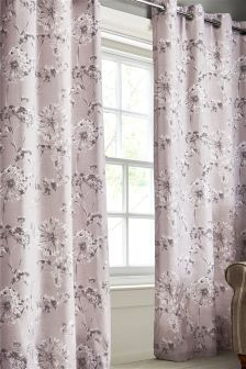 Allium Floral Eyelet Curtains