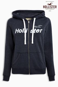 Hollister Navy Zip Hoody