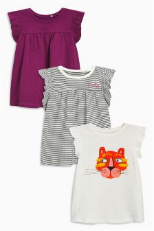 Raw Sleeve T-Shirts Three Pack (6mths-6yrs)