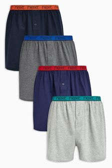 Bright Waistband Loose Fit Four Pack