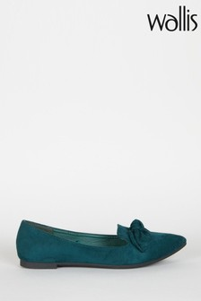 Wallis Green Betsy Green Bow Detail Point Shoes