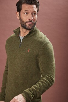 Lambswool Zip Neck Jumper