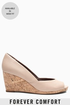 ddc722b56fcb1c Peep Toe Cork Wedges