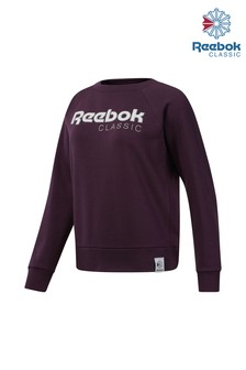 Reebok Purple Classics Big Logo Fleece Crew