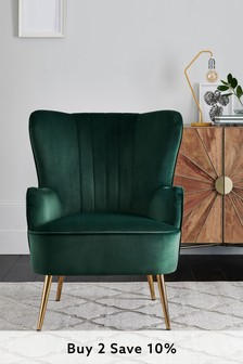 Blake Armchair With Gold Legs