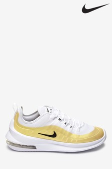 Nike White/Gold Air Max Axis Trainers