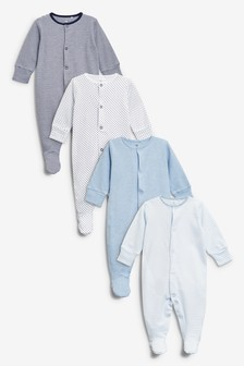 Sleepsuits Four Pack (0mths-2yrs)