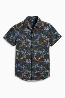 Short Sleeve Lizard Print Shirt (3-16yrs)