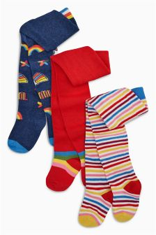 Rainbow Tights Three Pack (Younger)