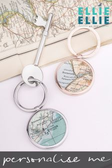 Personalised Map Keyring by Ellie Ellie