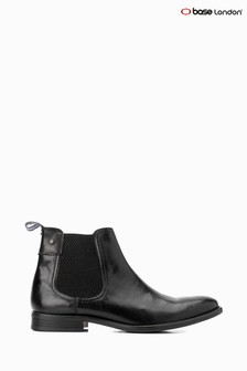 Base London® Black Dolcetta Pull-On Chelsea Boots