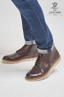 EVA Sole Leather Chukka Boots