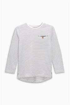 Long Sleeve Fine Stripe Top (3-16yrs)