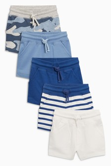 Camo/Stripe Shorts Five Pack (3mths-7yrs)