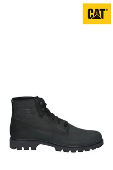 CAT® Lifestyle Black Basis Lace-Up Boots