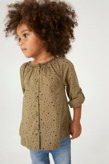 Blusa con maniche con risvolto (3 mesi - 7 anni)