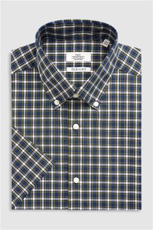 Check Short Sleeve Regular Fit Shirt