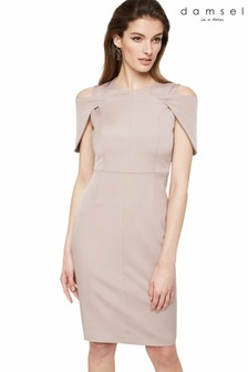 Damsel In A Dress Neutral Nicola Cold Shoulder Fitted Dress
