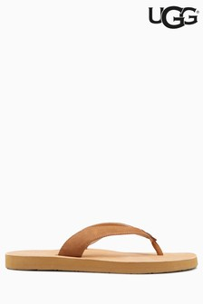 UGG® Chestnut Tawney Leather Toe Thong