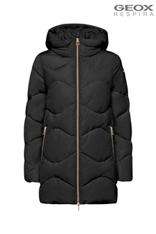 Geox Women's Annya Black Long Jacket