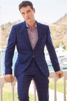 Karierter Slim-Fit-Anzug: Sakko
