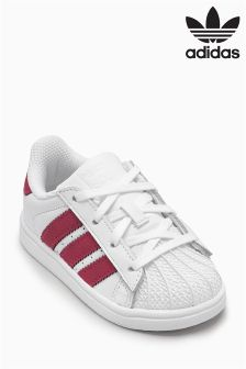 adidas Originals White/Pink Superstar