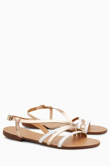 Asymmetric Strap Sandals