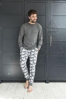 Moose Print Long Set (Mens)