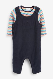 Cord Dungaree And Bodysuit Set (0mths-2yrs)