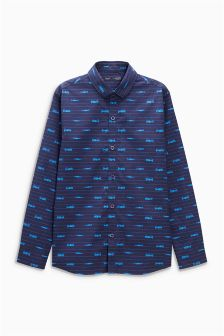 Long Sleeve Car Print Shirt (3-16yrs)