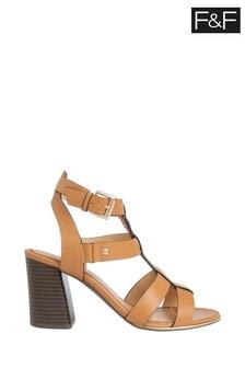 F&F Tan Heeled Gladiator Sandal