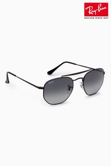 Ray-Ban® Black Hex Double Bridge Aviator Sunglasses