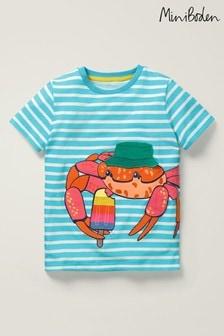 Mini Boden Blue Novelty Appliqué T-Shirt