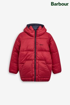 Barbour® Red Boys Hike Reversible Quilted Jacket