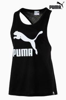 Puma® Black Classic Logo Tank