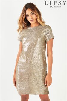 Lipsy All Over Sequin Shift Dress