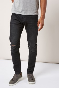 Gerippte Stretch-Jeans