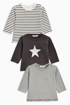 T恤三件装 (0个月-2岁)