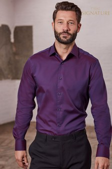Коллекционная рубашка классического кроя из тонированной фактурной ткани