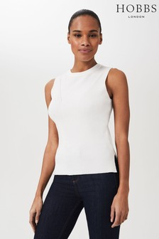 Hobbs Cream Paige Knitted Top