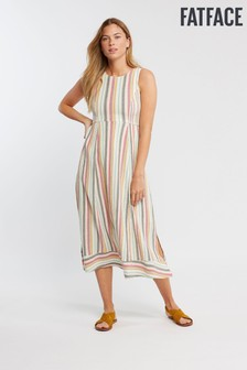 FatFace Natural Connie Multi Stripe Dress