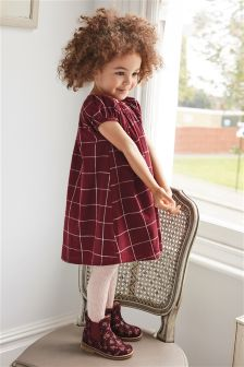 格纹连衣裙和紧身裤套装 (3个月-6岁)