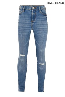 River Island Blue Medium Amelie Mississippi Ripped Jeans