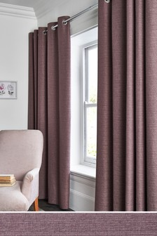 Textured Slub Studio* Eyelet Lined Curtains