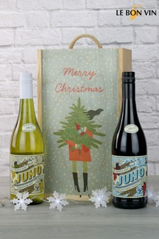 Merry Christmas Juno Wine Pair Gift Set by Le Bon Vin